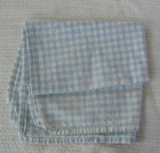 blue, white dish towel