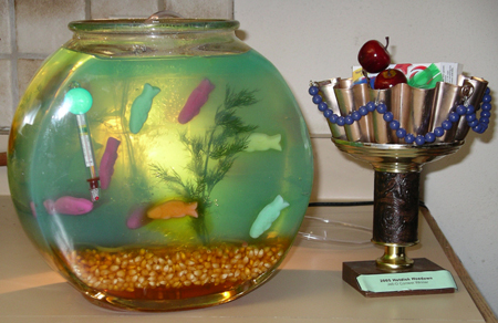 fishbowl, trophy